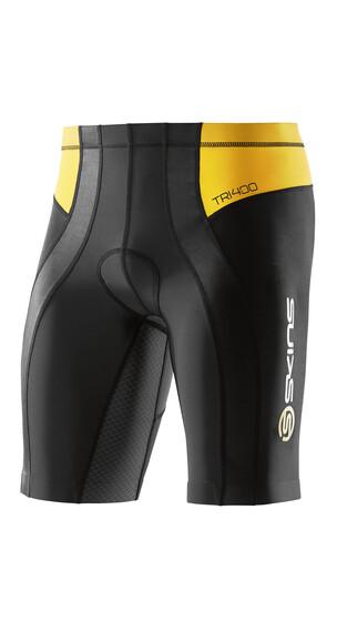 Skins TRI400 Tri Shorts Men Black/Yellow